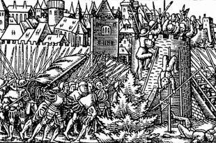 Осада Полоцка в 1563 году, гравюра из аугсбургского «летучего листка».