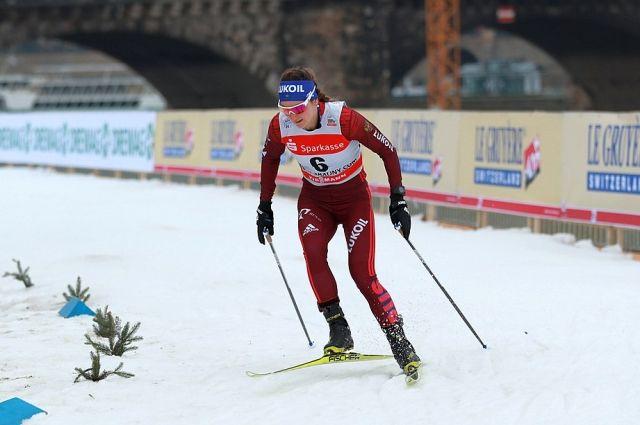Юлия Белорукова на соревнованиях в Дрездене.