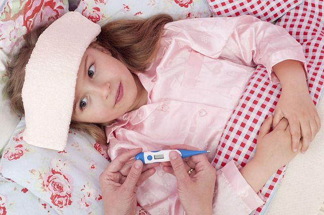 Среди заболевших ОРВИ много детей