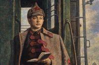 Картина «Командир Тухачевский» работы художника Е.Клеймякова. Выставка к 70-летию Вооруженных сил СССР.