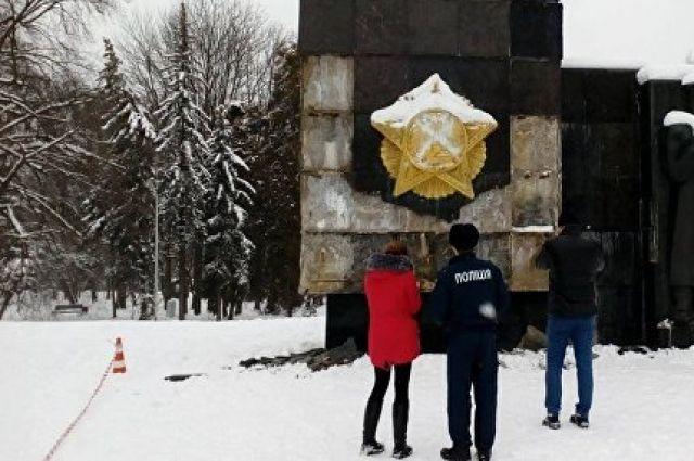 ВоЛьвове написали «памятник оккупантам» наМонументе славы