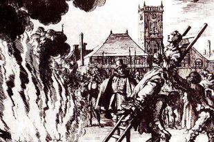 Казнь голландского анабаптиста испанской инквизицией.
