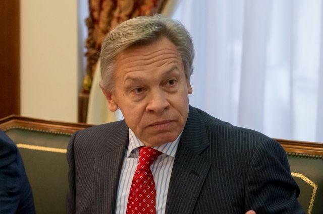 Пушков ответил на заявление Порошенко о переговорах с Россией