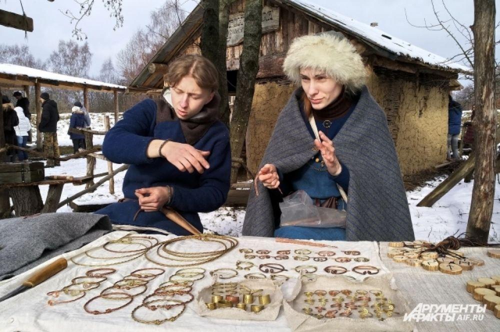 «Ювелирная» мастерская в деревне викингов.