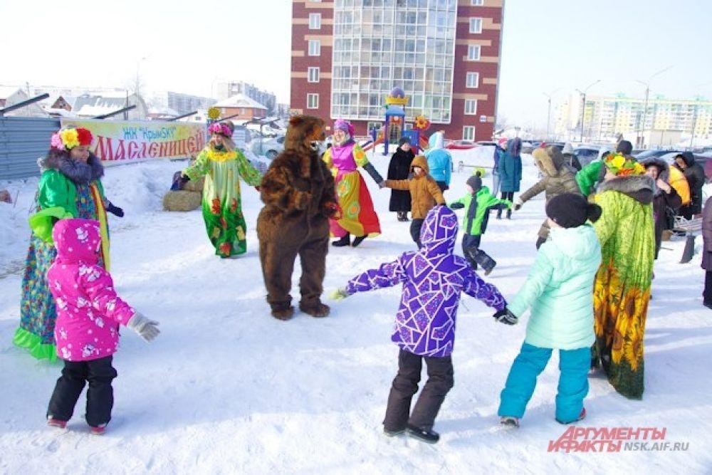 К 12 часам на площадке ЖК заиграла музыка, и местные жители, а также гости из других микрорайонов мегаполиса выбрались из теплых квартир на свежий воздух.