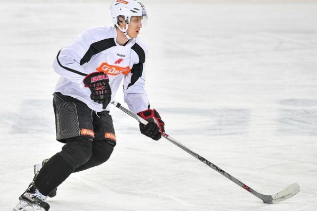 Пьянов провёл первую тренировку на льду.