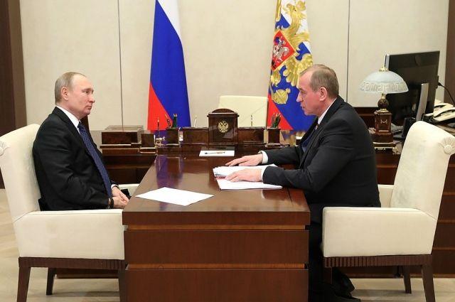 Владимир Путин и Сергей Левченко.