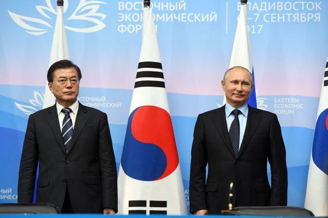 Путин пригласил президента Южной Кореи посетить Россию