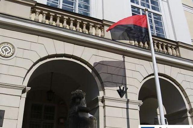 Бандеровское знамя впервый раз подняли перед ратушей Львова
