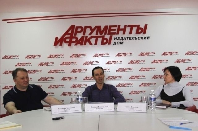Владимир Лебедев, Дмитрий Соколов и Галина Ажеева.