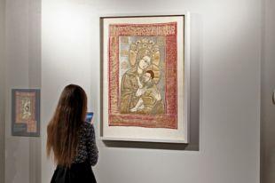 Фото с открытия выставки древнерусских памятников лицевого шитья.