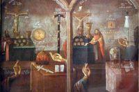 «Спор о вере». Картина неизвестного художника XVIII века.