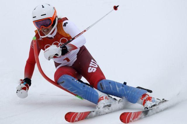 Швейцарка Гизин выиграла золото всуперкомбинации наОлимпиаде