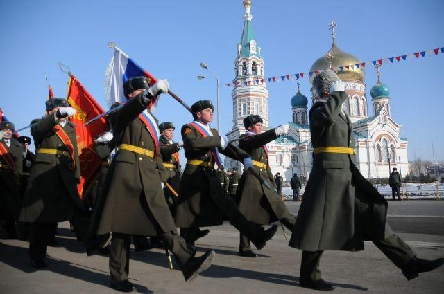 Парад на Соборной площади открывает череду праздников, посвящённых Дню защитника Отечества.