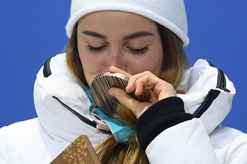 Юлия Белорукова. Бронзовая медаль в женском спринте.