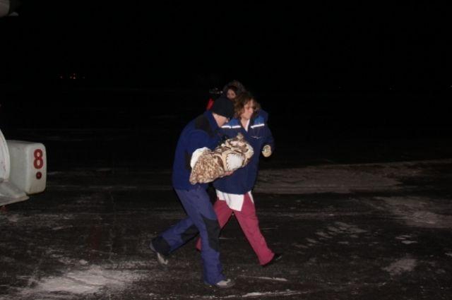 Спецборт МЧС доставил из Грозного в Нижний Новгород тяжелобольного младенца.