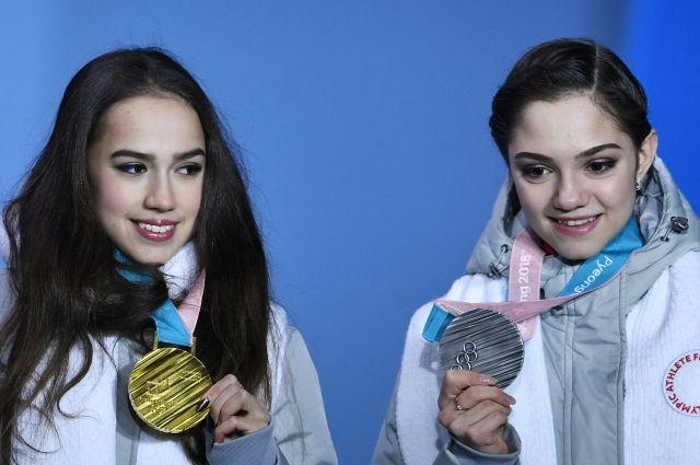 Загитовой и Медведевой вручили олимпийские медали