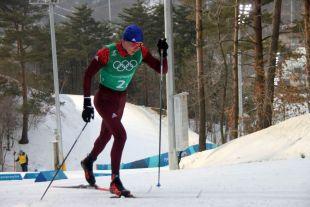 Александр Большунов отличился на дистанции 50 км.