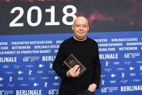 Алексей Герман-младший с наградой, присужденной газетой Berliner Morgenpost фильму «Довлатов».