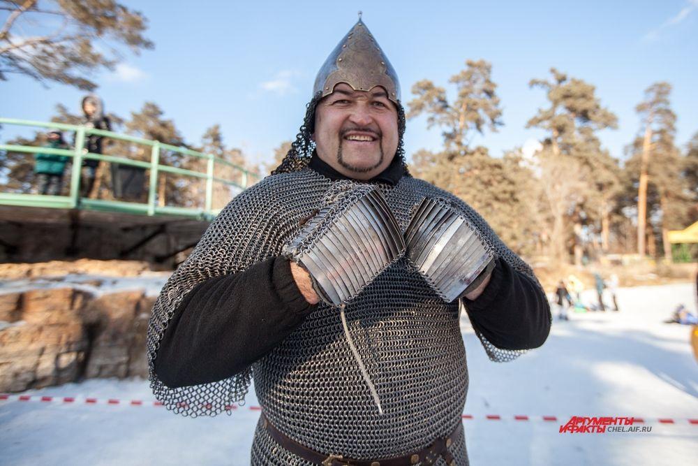 Эльбрус Нигматуллин на время игр перевоплотился в былинного богатыря.