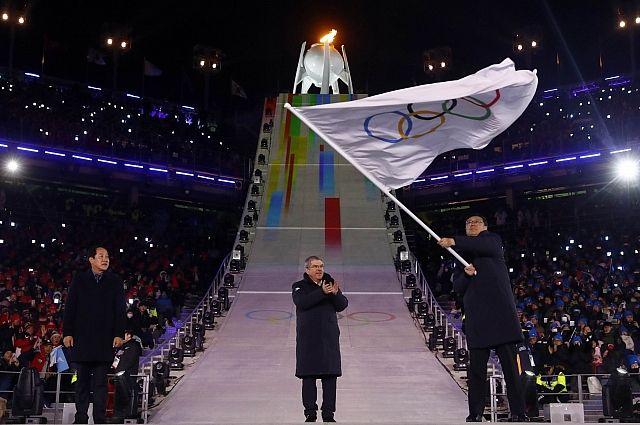 Олимпийский флаг передан делегации Пекина назакрытии Игр-2018 вПхенчхане