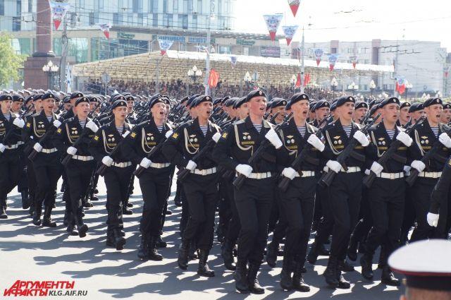 Более 200 курсантов калининградской академии примут участие в параде 9 Мая.