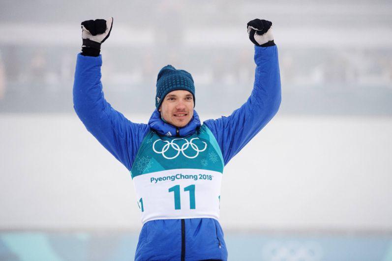Бронза. Андрей Ларьков (лыжи, масс-старт, 50 км).