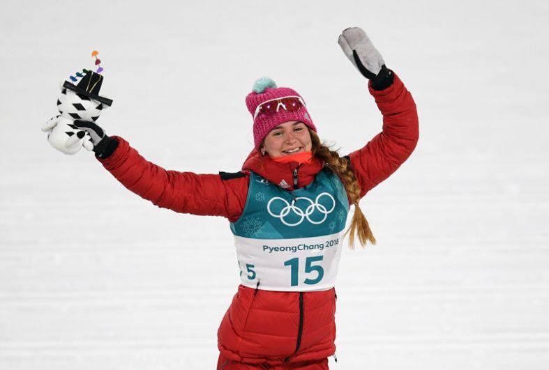Бронза. Юлия Белорукова (лыжи, классический спринт).