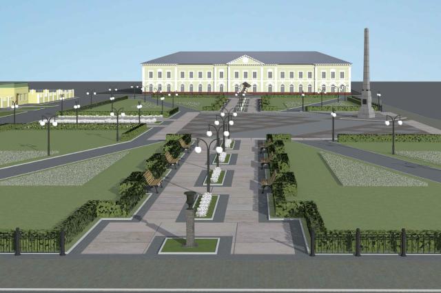 Эскиз Демидовской площади