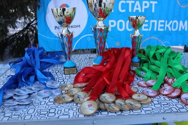 На благотворительных соревнованиях были разыграны сразу несколько комплектов медалей.