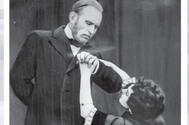 Сцена из спектакля «Анна Каренина», 1948 г. Актёры Н. Смирнова, С. Цветков.