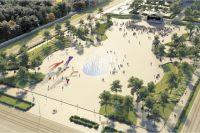 Так, по задумке авторов концепции, может выглядеть главная площадь Перми (вид сверху с ул. Попова).
