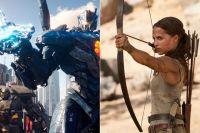Кадры из фильмов «Тихоокеанский рубеж-2» и «Tomb Raider: Лара Крофт».