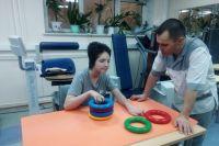 Валя Жулина на реабилитации в ОКБ Ханты-Мансийска