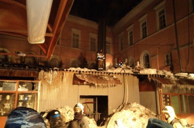 Названа причина крупного пожара на Большой Покровской в Нижнем Новгороде.