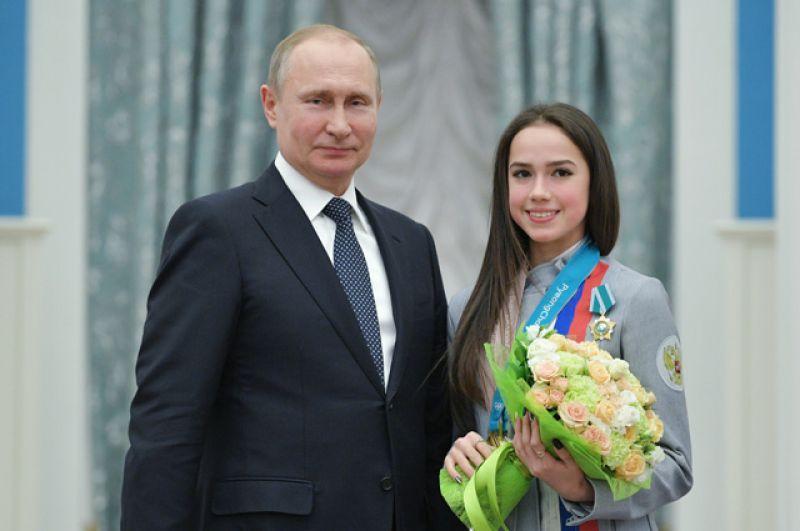 Президент РФ Владимир Путин вручил орден Дружбы Алине Загитовой, завоевавшей золотую медаль в женском одиночном фигурном катании на XXIII зимних Олимпийских играх в Пхенчхане.