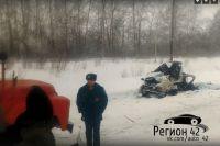 После аварии от автомобиля осталась груда металла.