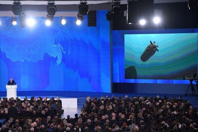Путин объявил осоздании в Российской Федерации ядерной крылатой ракеты
