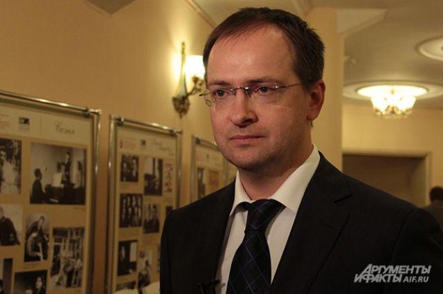 Мединский прибыл в Омскую область с рабочим визитом.