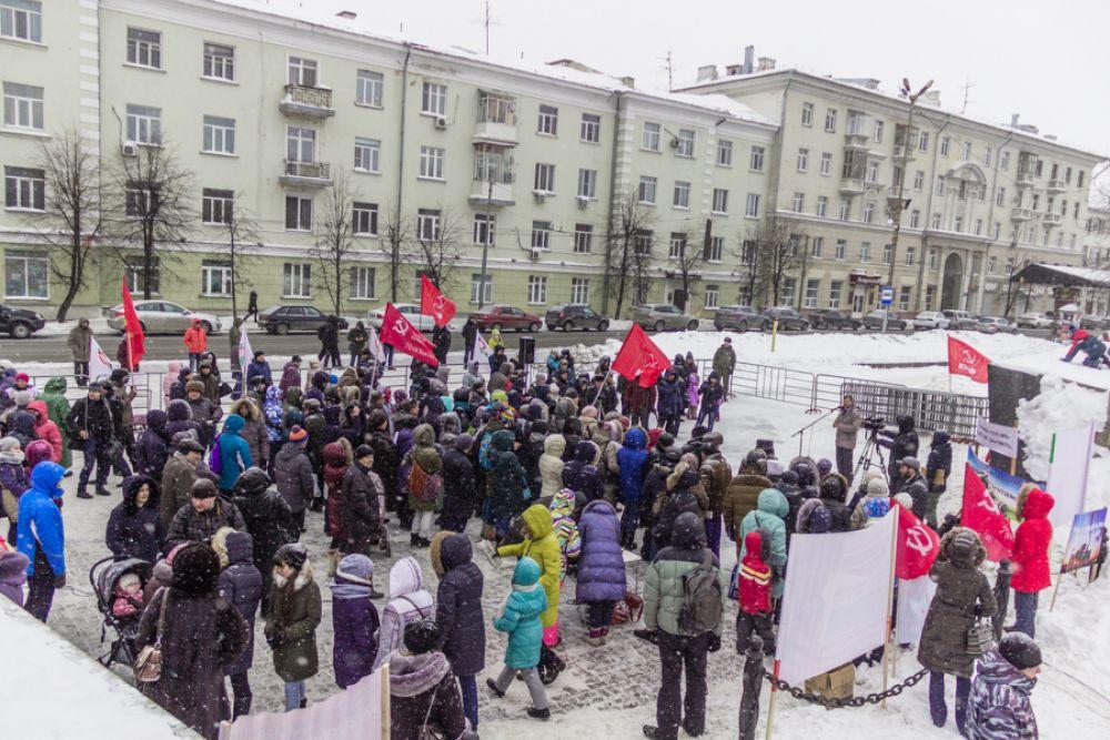 Участники митинга приняли резолюцию о запрете строительства термического завода