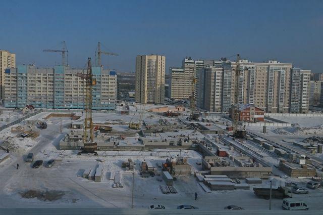 Строительство в новых кварталах Барнаула