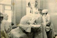 Операционная в Раздолинской больнице, 1950 г.