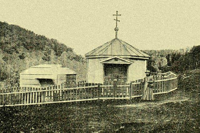 Часовня и купальня на источнике блаженной Евфросинии. Около 1911 г.