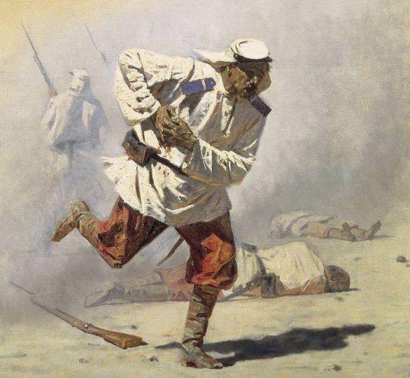 Василий Верещагин, «Смертельно раненный». 1873 г.