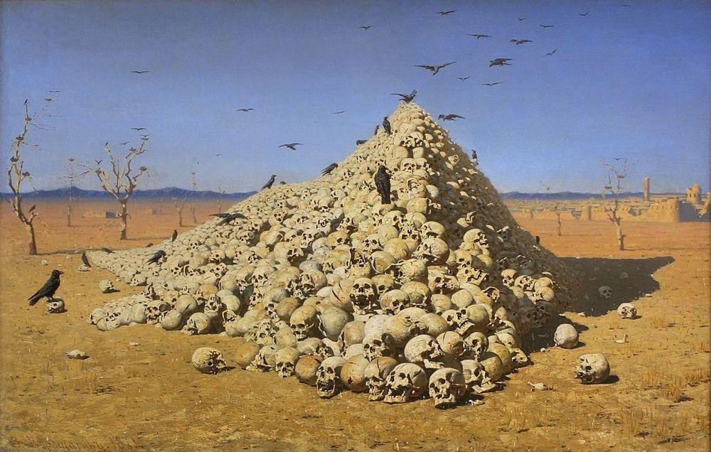 Василий Верещагин, «Апофеоз войны», 1871 г.