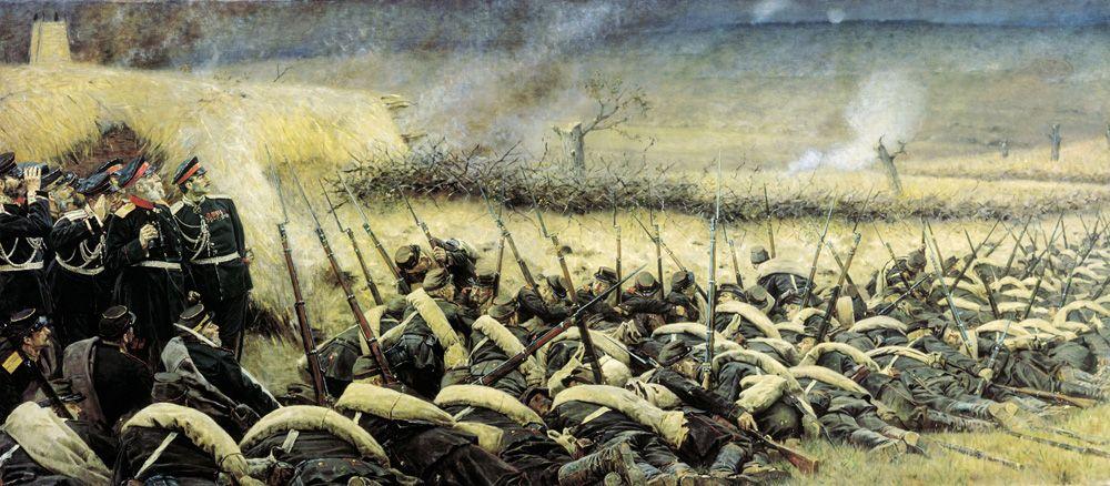 Василий Верещагин, «Перед атакой. Под Плевной», 1881 г.