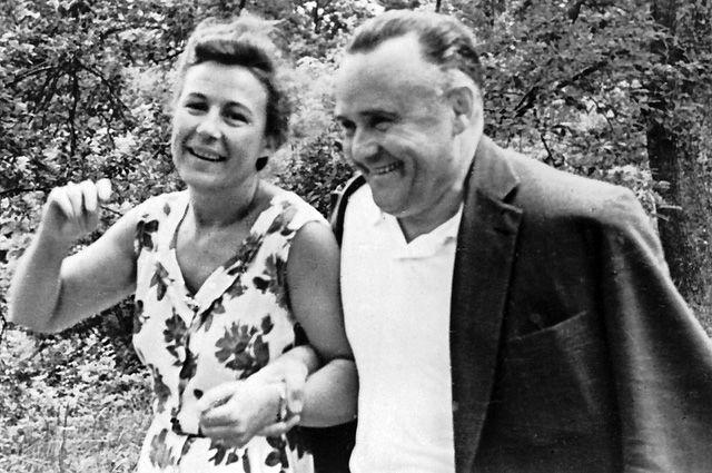 Сергей Королев с женой Ниной Ивановной. 1961 г.
