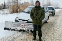 После каждого снегопада Черкасов на время «переквалифицируется» в коммунального дорожника.