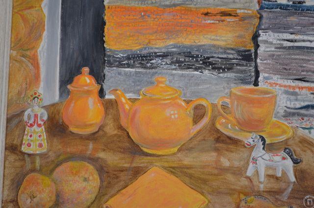 В Тюмени проходит выставка картин поэта Ольги Даниловой-Пушкарь