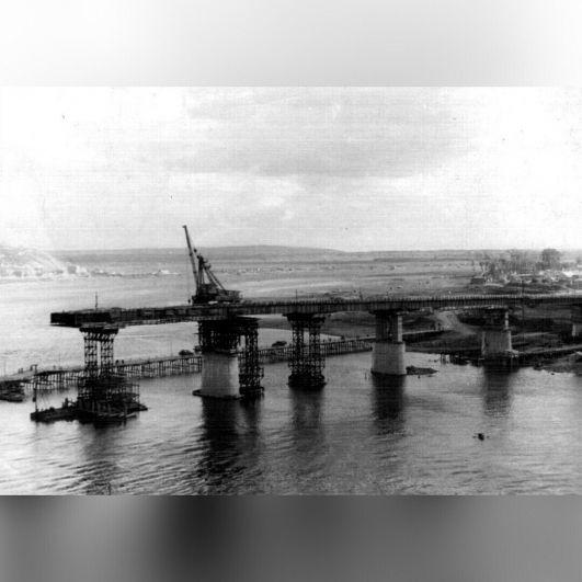 Как строился первый капитальный мост через Белую.